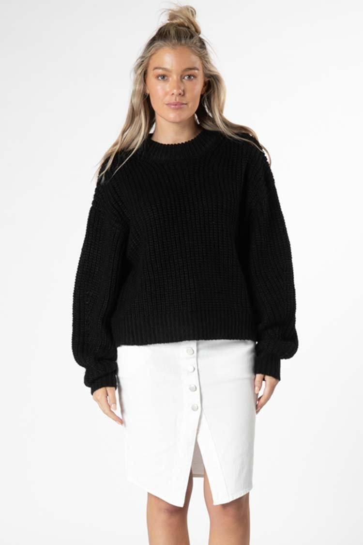 Astrid Bell Jumper in Black