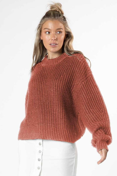 Astrid Bell Jumper in Rosewood Tops SASS