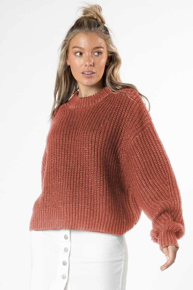 Astrid Bell Jumper in Rosewood