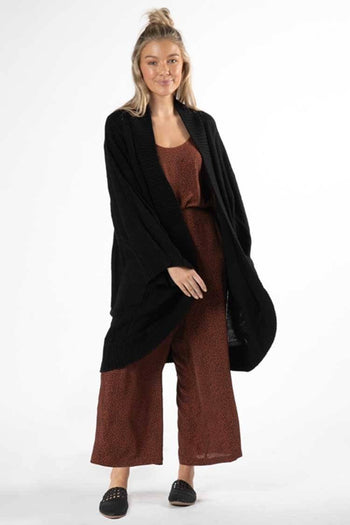 Astrid Cable Cardi in Black