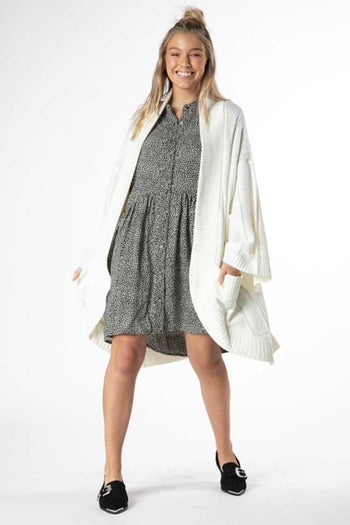 Astrid Cable Cardi in Winter White