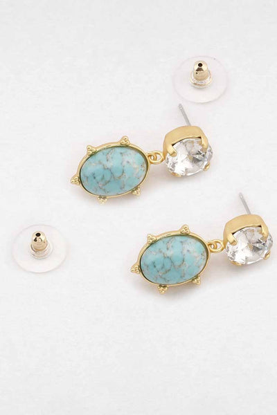 Aura Earring in Turquoise Accessories Peter Lang