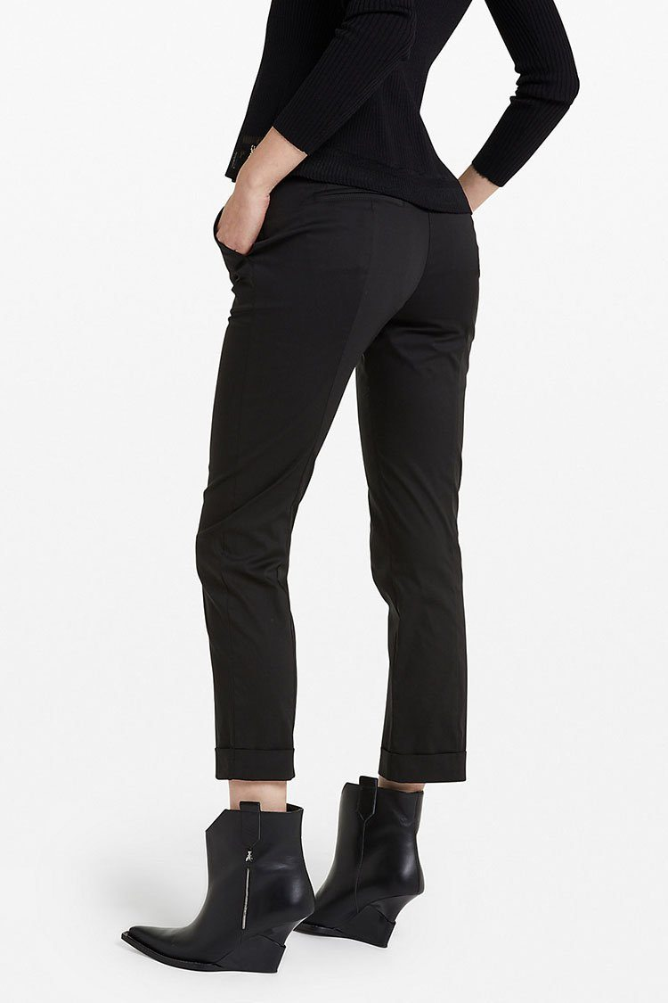 Stretch Cotton Trousers in Nero | FINAL SALE