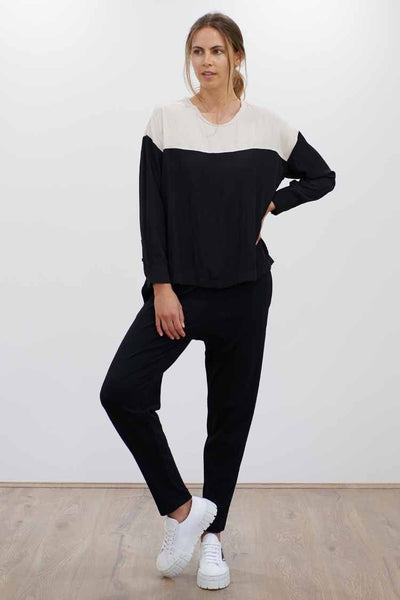 Base Knit Pant in Black Bottoms Mela Purdie
