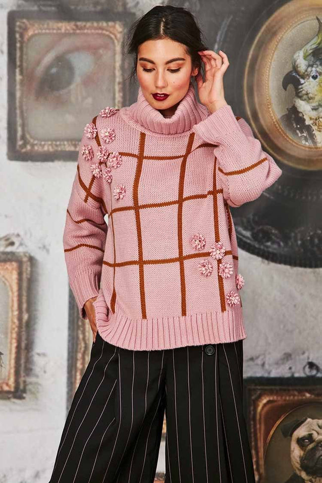 Be Square Jumper in Pink