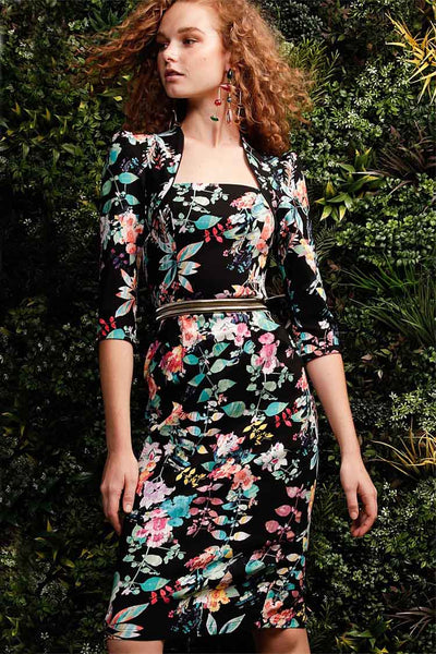 Beatrice Dress in Black Floral Dresses Sacha Drake