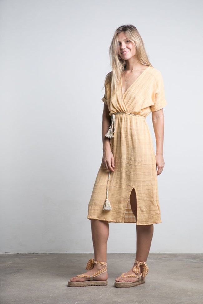 Bedouin Dress in Saffron | FINAL SALE
