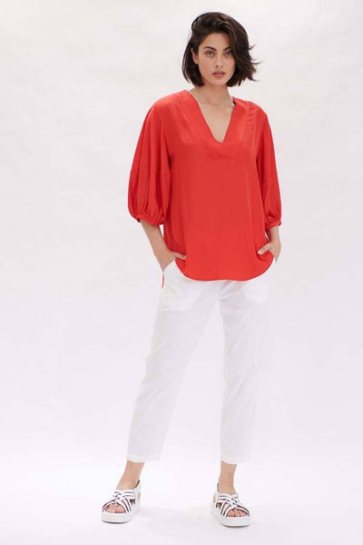 Belle Blouse in Flame Tops Mela Purdie