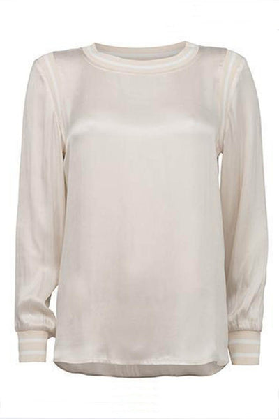 Blouse w Sport Detail in Pale Pink Tops Yaya