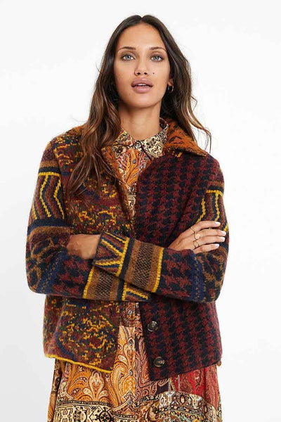Boho Knit Jacket Jackets & Outerwear Desigual