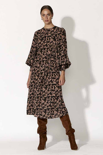 Bound For Glory Dress in Abstract Animal Dresses Fate + Becker