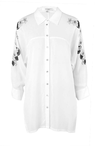 Bouquet 3/4 Sleeve Shirt in Ivory Tops Verge
