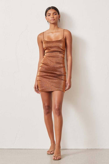 Bronze Baby Mini Dress