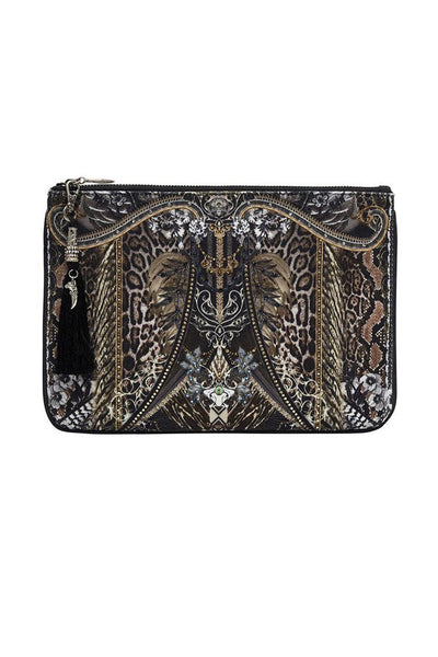 Small Canvas Clutch in One Tribe Accessories Camilla