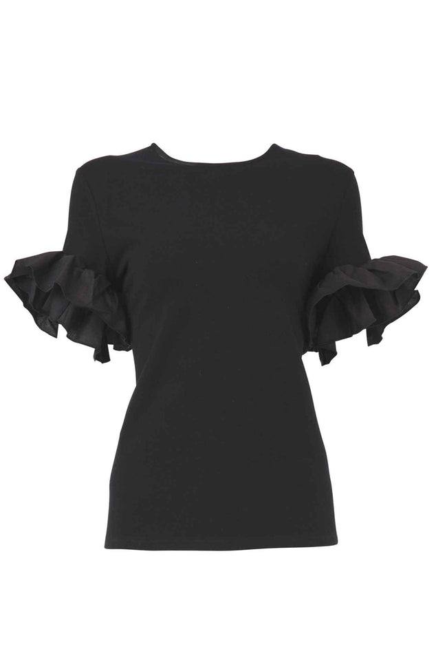 Free Frill Top in Black