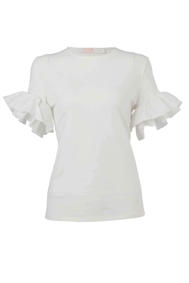 Free Frill Top in White