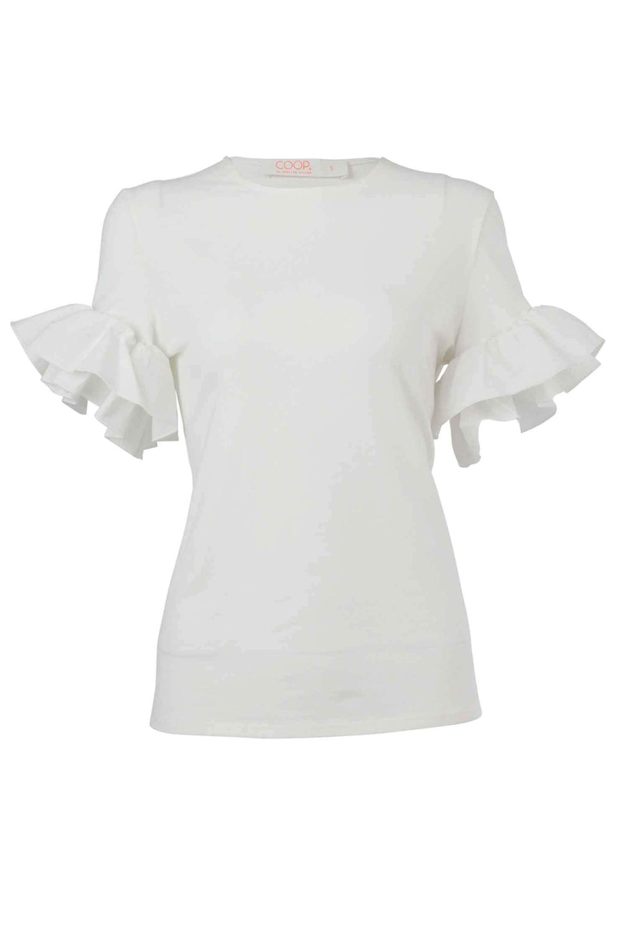Free Frill Top in White by Coop Frockaholics.com