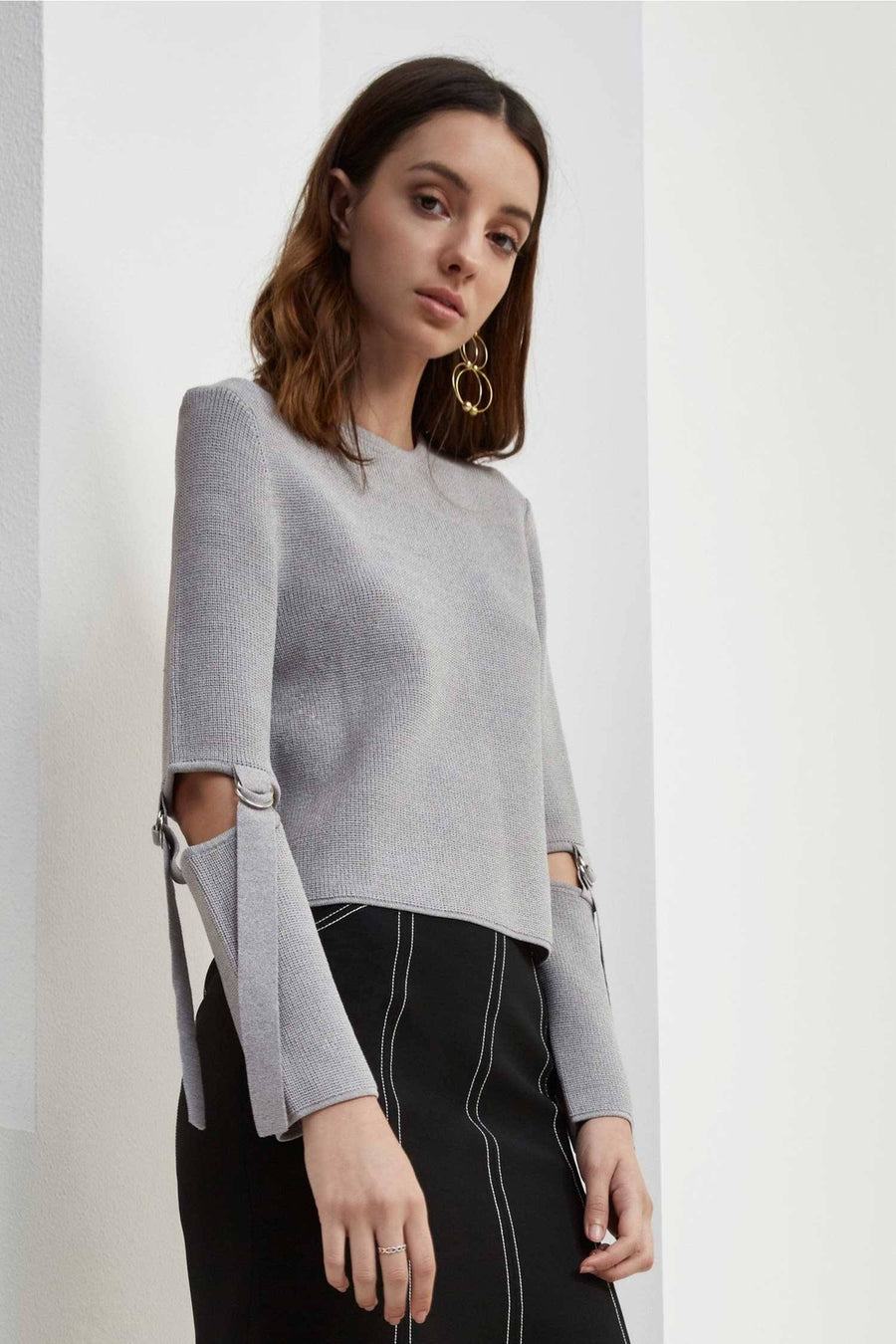 Framed Knit Jumper by C/MEO Collective