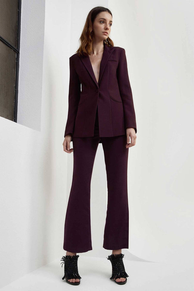 Long Gone Blazer in Aubergine by C/MEO Collective