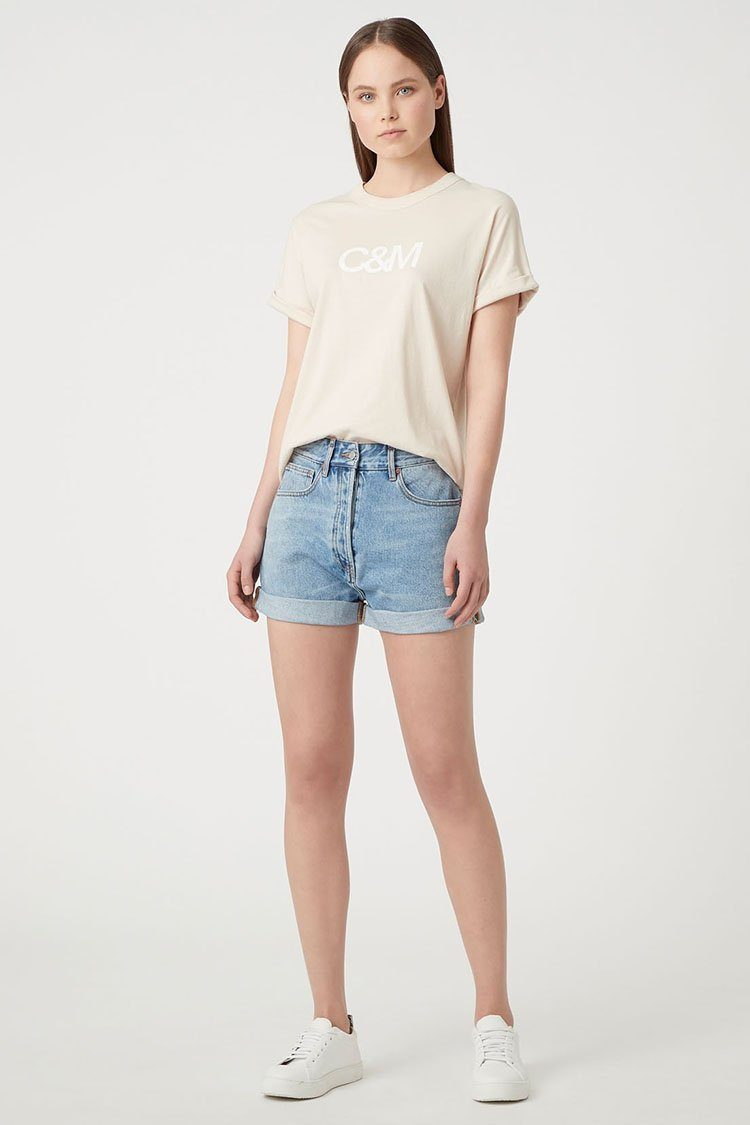 Huntington Tee in Chalk