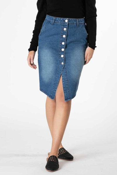 Cacey Denim Skirt Bottoms SASS