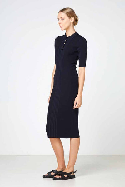 Carmine Knit Dress in Black Dresses Elka Collective