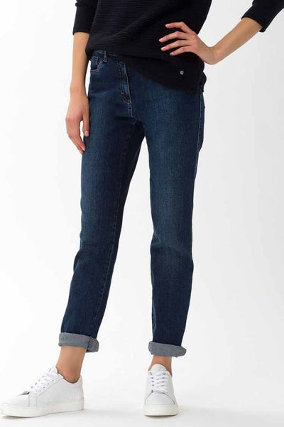 Carola Crystal Romance Jean in Dark Denim Bottoms Brax