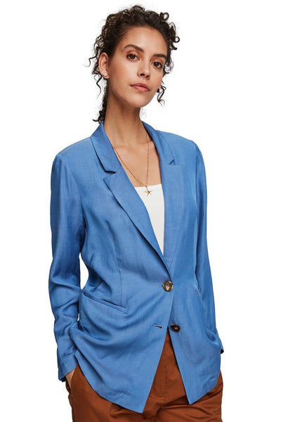 Classic Blazer in Azure Blue Jackets & Outerwear Maison Scotch