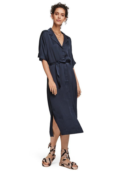 Classic Shirt Dress in Night Dresses Maison Scotch