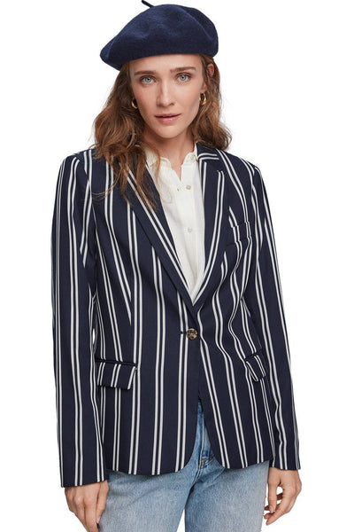 Classic Striped Stretch Blazer Jackets & Outerwear Maison Scotch