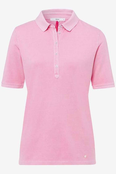 Cleo Polo Shirt in Baby Pink Tops Brax