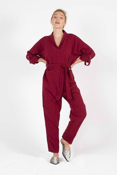 Coco Boiler Suit in Berry Jumpsuit / Playsuit SASS