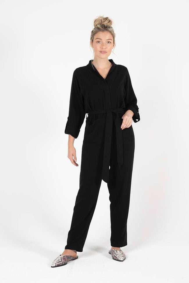 Coco Boiler Suit in Black
