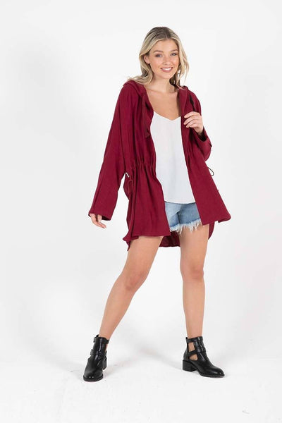 Coco Jacket in Berry Jackets & Outerwear SASS