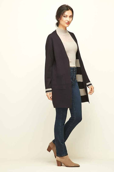 Collect Cardi Coat in Blue Velvet Jackets & Outerwear Verge