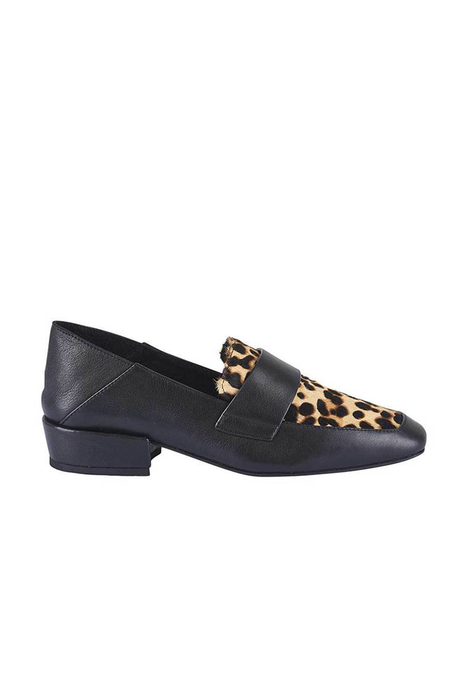 Shop Online Colt Loafer in Black & Leopard Pony by Sol Sana  Frockaholics Shoes