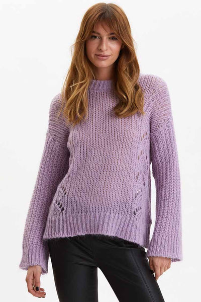 Comfort Oversized Sweater in Purple Tops Odd Molly
