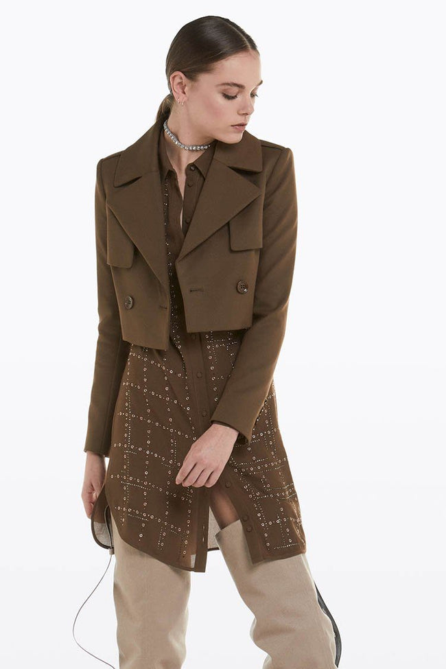 Cropped Jacket w Trench