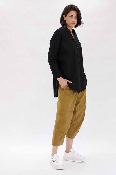 Cropped Tuscan Pant in Palm Bottoms Mela Purdie