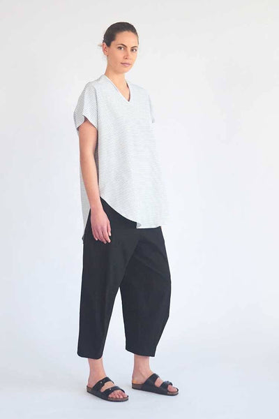Cropped Tuscan Pant in French Navy Bottoms Mela Purdie