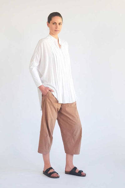 Cropped Tuscan Pant in Ginger Bottoms Mela Purdie