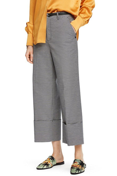 Cropped Wide Leg Trousers Bottoms Maison Scotch