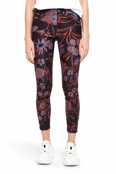 Cropped Skinny Beflower Trouser Bottoms Desigual