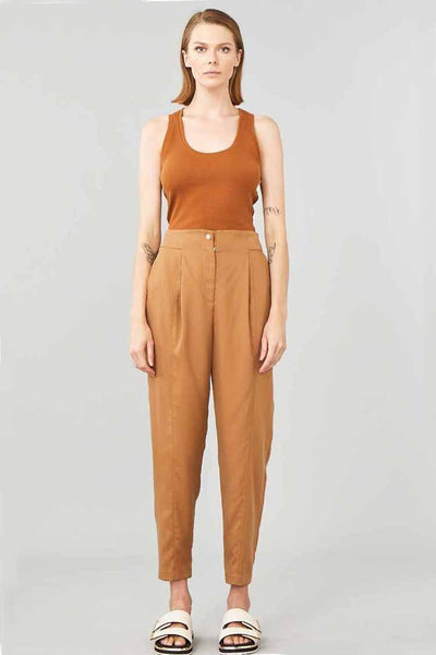 Cruiser Pant in Caramel Bottoms Ginger & Smart