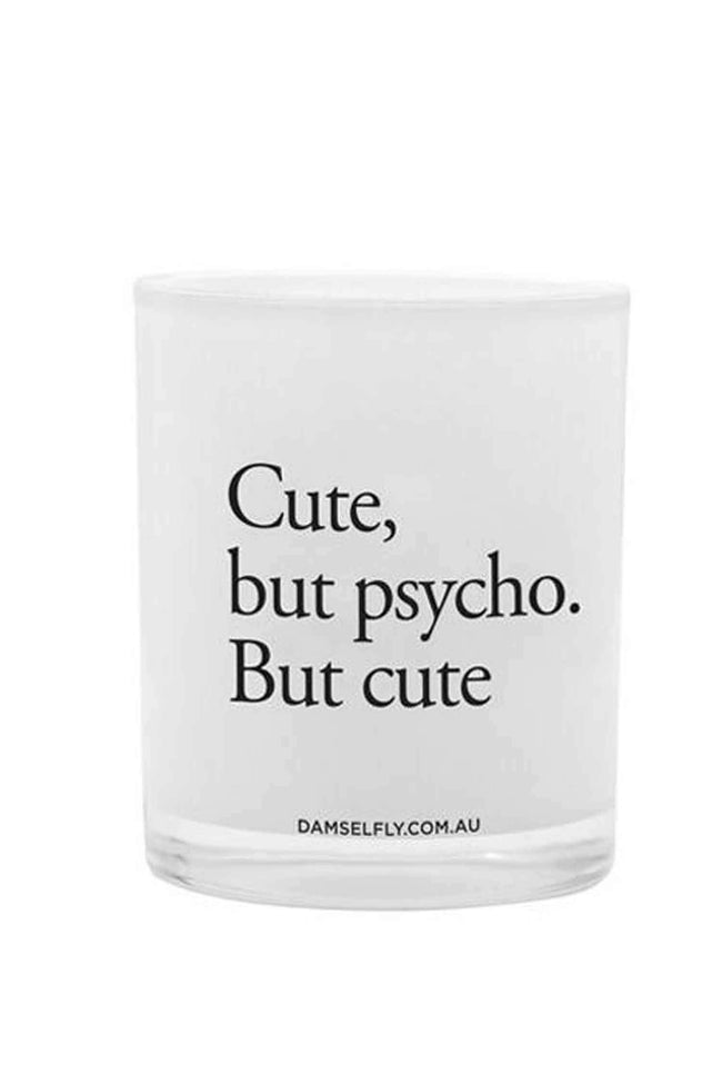 Shop Online Cute But Psycho Candle by Damselfly  Frockaholics Accessories