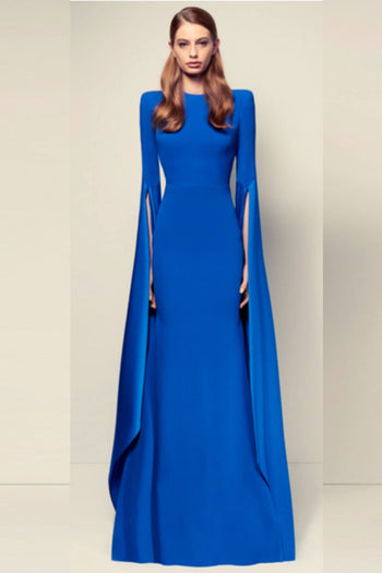 Alana Satin Crepe L/S Split Gown by Alex Perry Frockaholics.com