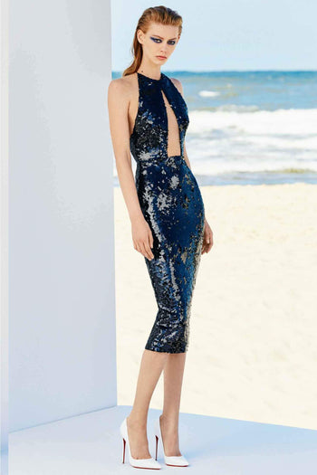 Alexa Sequin Halter Lady Dress by Alex Perry Frockaholics.com