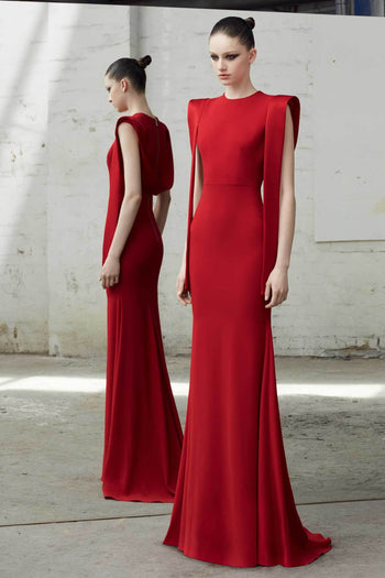 Shop Online Alex Satin Draped Gown by Alex Perry  Frockaholics PreOrder