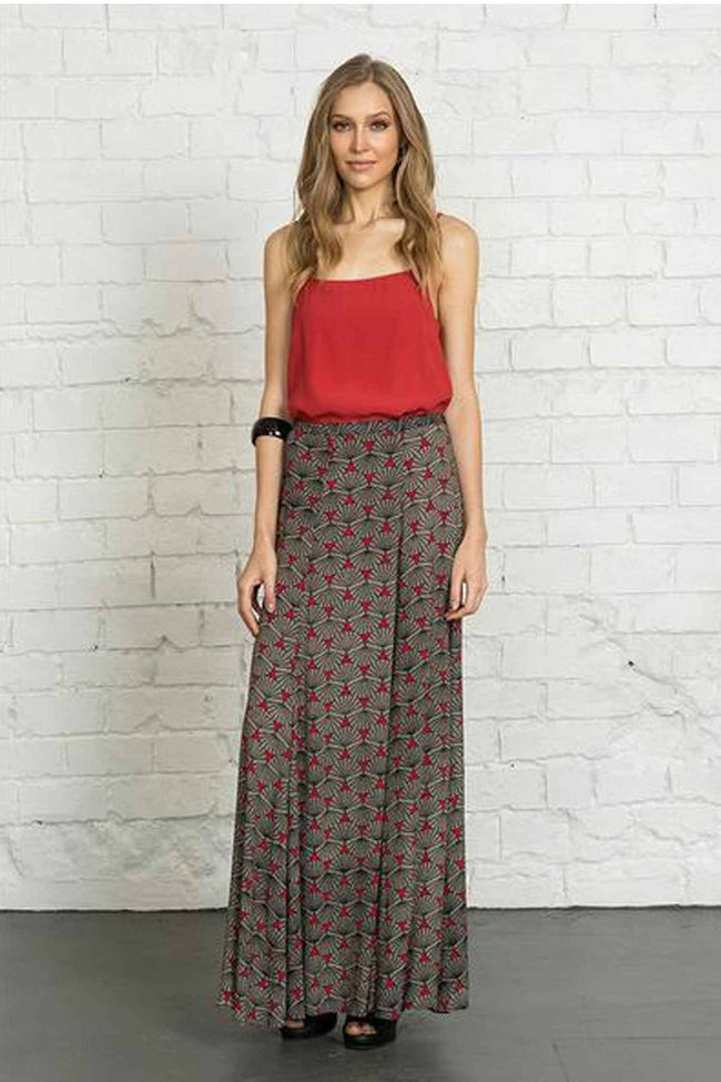 Campello Skirt in Antibes Red