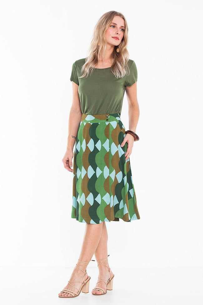 Osborn Skirt in Summer Green